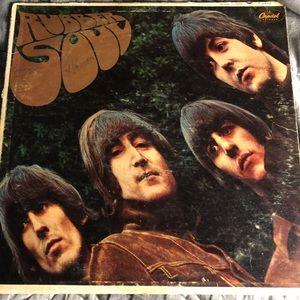 The Beatles Rubber Soul LP Vinyl Album poor Fair